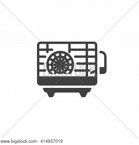 Hamster Cage Vector Icon. Filled Flat Sign For Mobile Concept And Web Design. Pet Cage With Hamster
