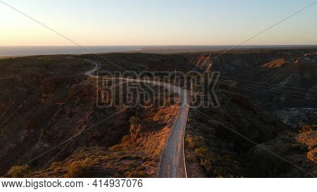 Amazing Route Over The Top Of The Charles Knife Canyon Road With An Great Aerial View In Exmouth, We