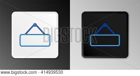 Line Signboard Hanging Icon Isolated On Grey Background. Suitable For Advertisements Bar, Cafe, Pub,