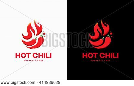 Red Hot Chili Logo Designs Concept Vector, Spicy Pepper Logo Designs Template