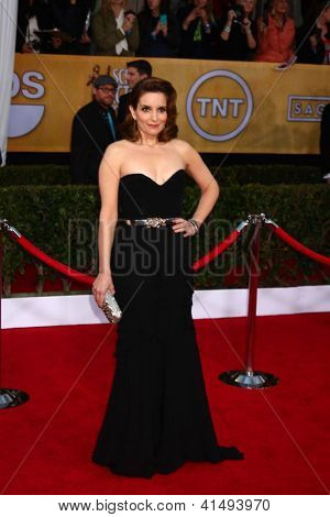 LOS ANGELES - JAN 27:  Tina Fey arrives at the 2013 Screen Actor's Guild Awards at the Shrine Auditorium on January 27, 2013 in Los Angeles, CA