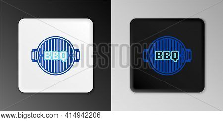 Line Barbecue Grill Icon Isolated On Grey Background. Top View Of Bbq Grill. Steel Grid. Colorful Ou