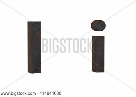 Rusty Letter A - Three Dimensional Uppercase And Lowercase A On White Background - 3d Render