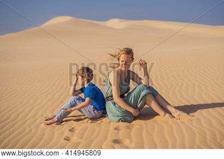 Relationship Problems Between Mother And Son. Family Conflict. Mom And Son Have A Heated Relationshi