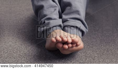 Child\'s Bare Feet. Heel And Foot. Toes