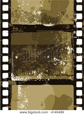 Vector illustration of Grunge Film seamless pattern poster