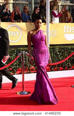 LOS ANGELES - JAN 27:  Teyonah Parris arrives at the 2013 Screen Actor's Guild Awards at the Shrine Auditorium on January 27, 2013 in Los Angeles, CA