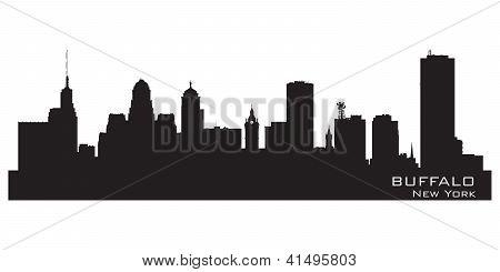 Buffalo, New York. Detailed City Silhouette