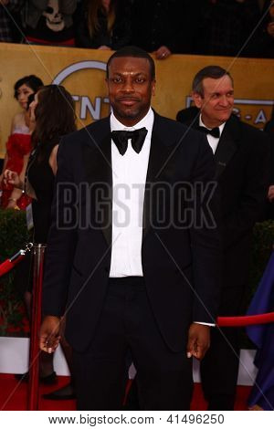 LOS ANGELES - JAN 27:  Chris Tucker arrives at the 2013 Screen Actor's Guild Awards at the Shrine Auditorium on January 27, 2013 in Los Angeles, CA