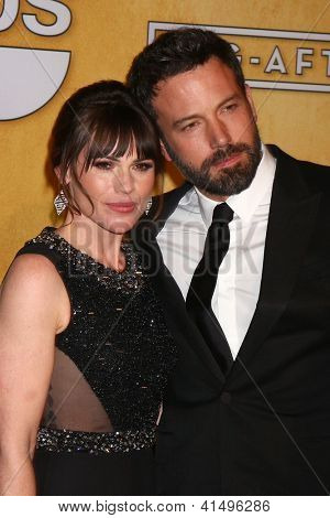 LOS ANGELES - JAN 27:  Clea Duvall, Ben Affleck pose in the press room at the 2013 Screen Actor's Guild Awards at the Shrine Auditorium on January 27, 2013 in Los Angeles, CA