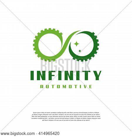 Infinity Automotive Logo Designs Concept Vector, Infinity And Car Logo Symbol Icon