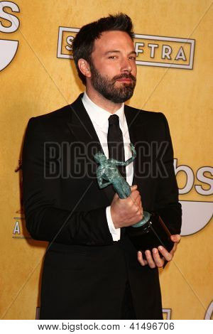LOS ANGELES - JAN 27:  Ben Affleck pose in the press room at the 2013 Screen Actor's Guild Awards at the Shrine Auditorium on January 27, 2013 in Los Angeles, CA
