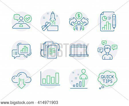 Education Icons Set. Included Icon As Bureaucracy, Graph Chart, Report Diagram Signs. Sharing Econom