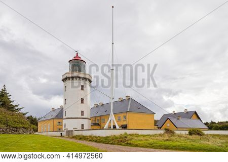 Lighthouse of Hanstholm at the North Sea coast of Denmark