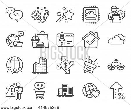 Business Icons Set. Included Icon As Global Business, Engineering, Skyscraper Buildings Signs. Appro