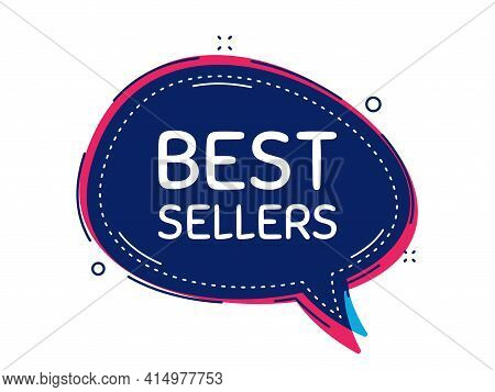 Best Sellers. Thought Bubble Vector Banner. Special Offer Price Sign. Advertising Discounts Symbol.