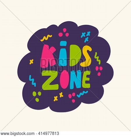 Vector Icon Of The Game Zone. Logo In Colored Letters In Doodle Style. For The Banner Of The Playgro