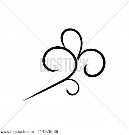 Swirl Ornament Stroke Hand Drawn. Ornamental Curls With Pen, Swirls Divider And Filigree Ornaments V