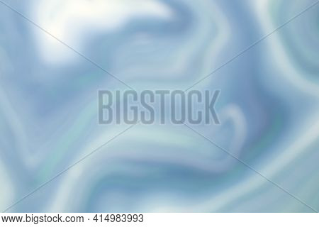 Blurred Bright Light Blue And White Background With Wavy Lines Pattern. Defocused Art Abstract Gradi