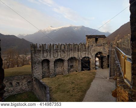 Bellinzona The Capital City Of Southern Switzerland's Ticino Canton
