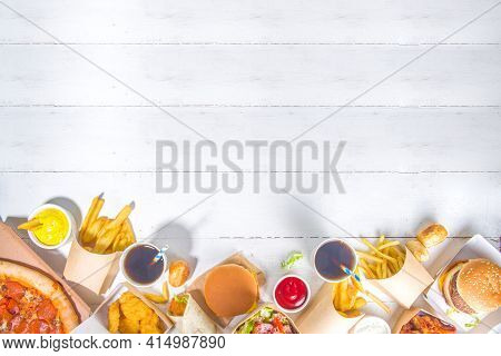 Delivery Food, Fast-food Background