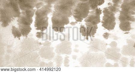 Aged Batik Print. Watercolor Blots. Hand Drawn Surface. Obsolete Grunge Acrylic Splatter. Scrap Tie