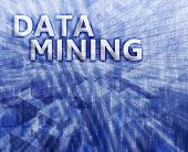 Data mining abstract computer technology concept illustration poster