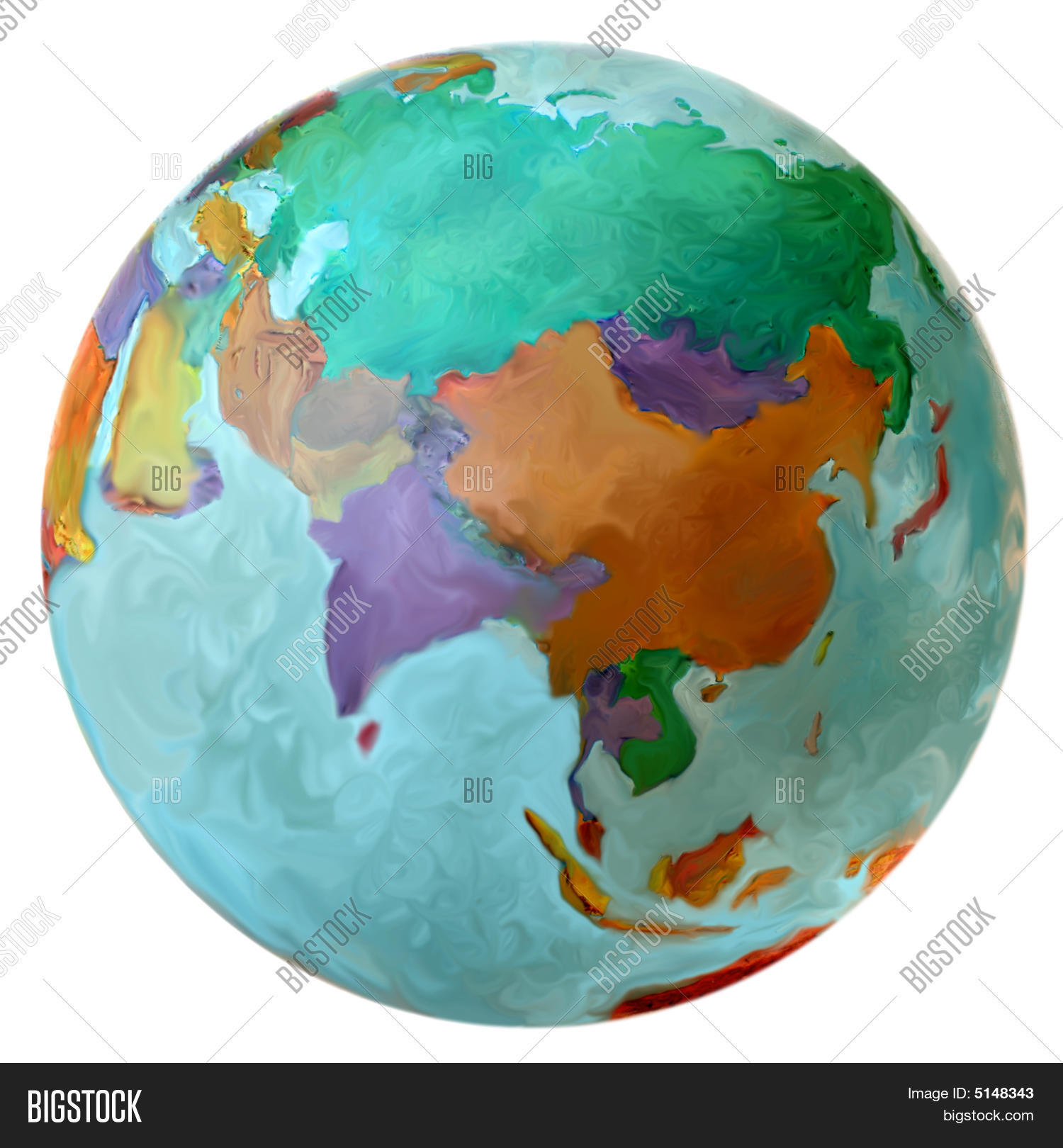 Eastern hemisphere on image photo free trial bigstock eastern hemisphere on the world globe middle east russia asia gumiabroncs Images