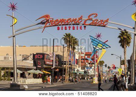 Fremont East Sign In Las Vegas, Nv On April 21, 2013