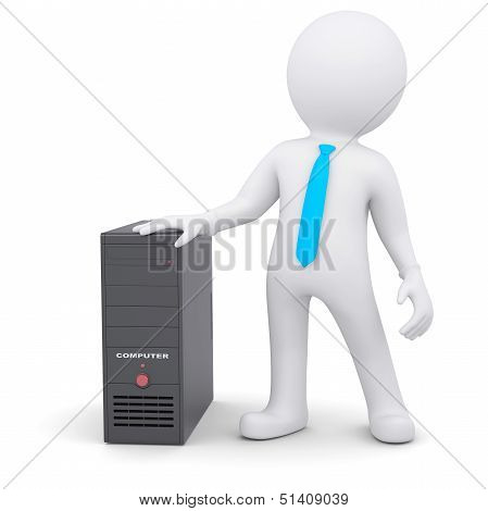 3d person and computer system unit