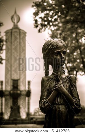 Kyiv, Ukraine - May 19: Memorial To The Holodomor Victims In Kyiv On May 19, 2012. Holodomor Was A M