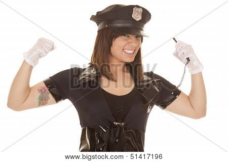 Woman Police Officer Flew Close