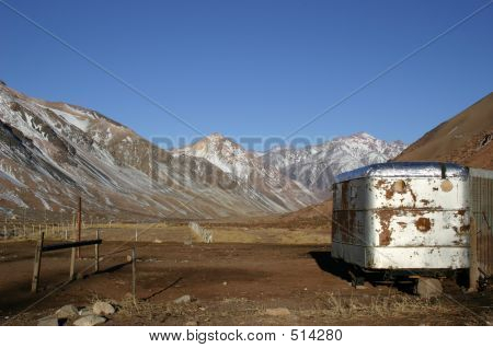 Trailer In Mountains