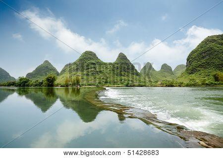 Beautiful Karst Landform With The Yulong River