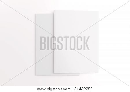 Blank Cards Isolated On White