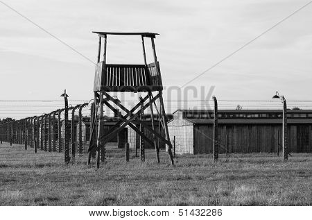 Sentry Box at Auschwitz Birkenau