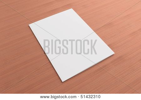 Blank Card On Wooden Background