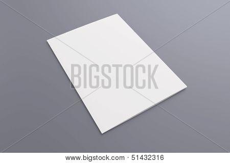 Blank Card Isolated On Grey