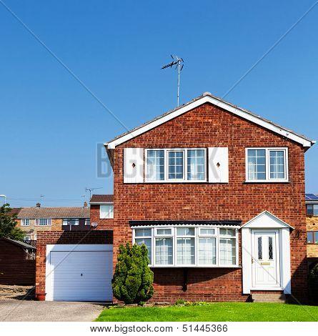 Redbrick English house wit garage