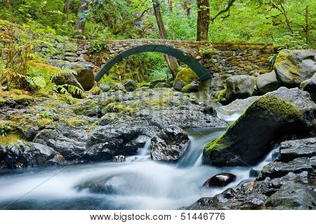Streams in Columbia River Gorge, Oregon