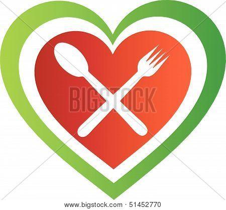 Icon for Italian cuisine- Colors of the Italian flag
