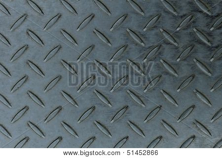 grey seamless steel diamond plate texture - industrial background poster
