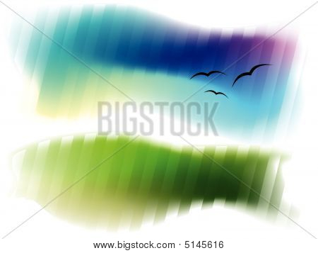 Abstract Background Green And Blue