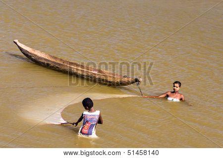 Malagasy People Fishing