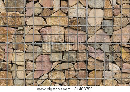 Rocks In A Steel Net