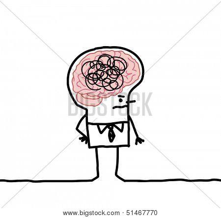 Big brain man confusion vector photo bigstock big brain man confusion thecheapjerseys Gallery