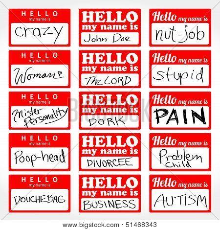 Hello My Name is Nametags