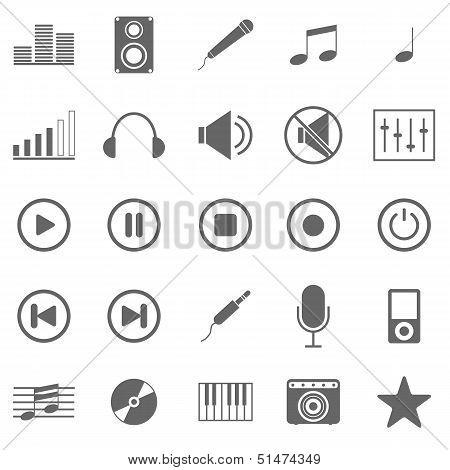 Music Icons On White Background