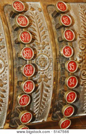 Cash Register Red Buttons