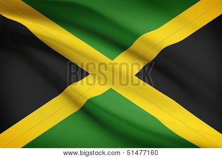 Series Of Ruffled Flags. Jamaica.